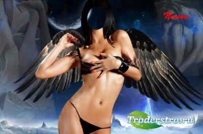 Женский шаблон для фотошоп - Ангел