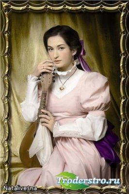 Женский шаблон  для Photoshop –  Портрет Аристократки