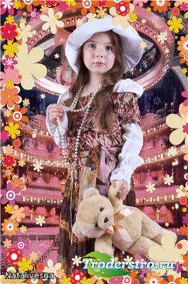 Шаблон детский для Photoshop – Модница