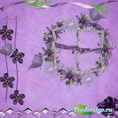 Рамка для фотошопа - Фиолетовая
