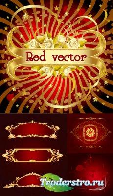 Векторный клипарт - Red vector
