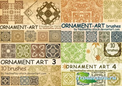Кисти для фотошопа - Ornament Art Brushes - Орнаменты