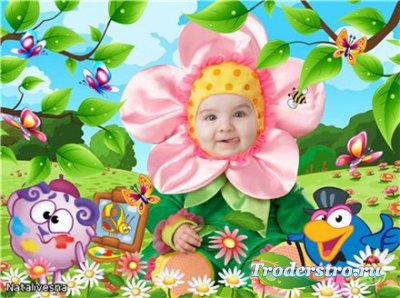Шаблон детский  для Photoshop – Мой цветочек