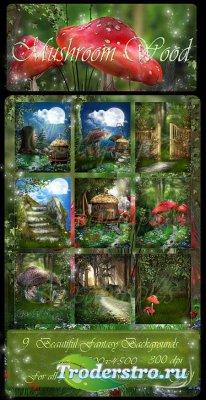 Фоны - Mushroom Wood / Грибной лес