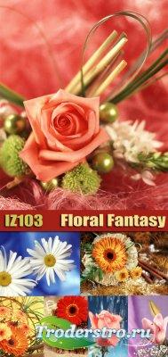Клипарт - Цветочные фантазии (Floral Fantasy)