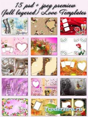 Рамки для фотошопа - Свадебные мгновения
