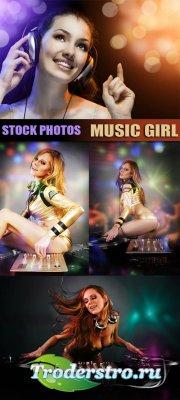 Клипарт - Музыка и девушки (Music girl)