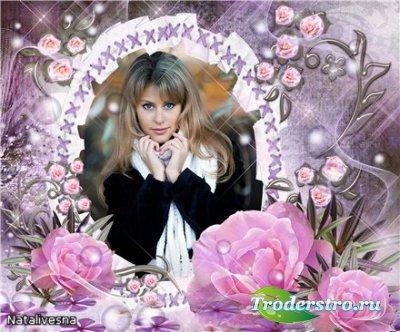 Рамка для Photoshop – Розовые розы