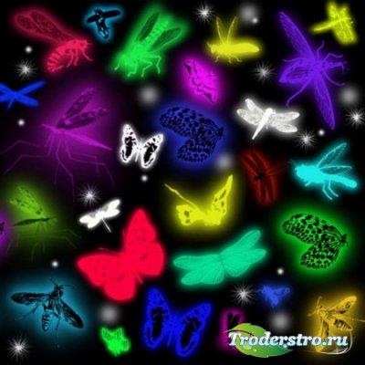 Коллекция кистей - Светящиеся насекомые