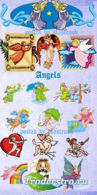 Сборник клипарта - Ангелочки