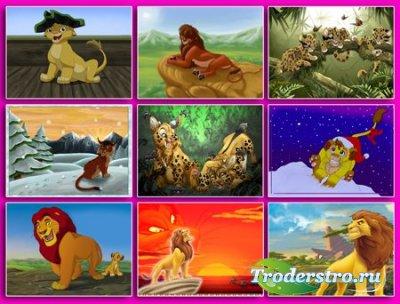 Обои - Мультяшные тигры и львы