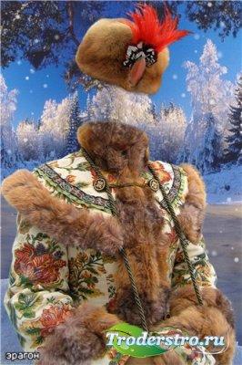 Женский шаблон для фотошопа – Русская красавица