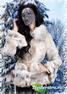 Шаблон для фотошоп - Зимний лес