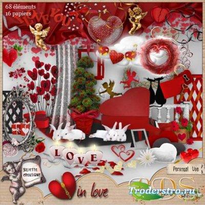Скрап-набор - Heart in love