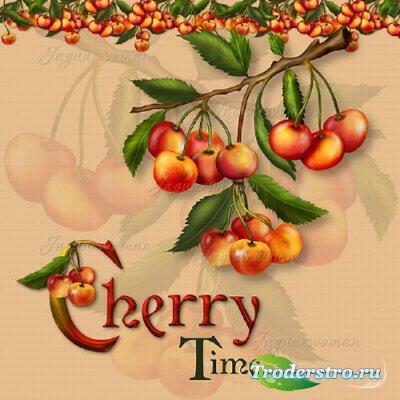 Скрап-набор - Аппетитные вишни