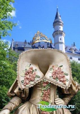 Шаблон для фотошоп – Барышня в замке