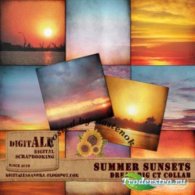 Фоны для фотошопа - Summer sunsets / Летние закаты