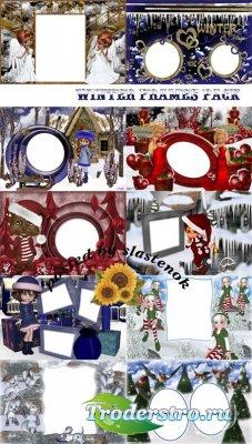 Сборник зимних рамок для фотошопа
