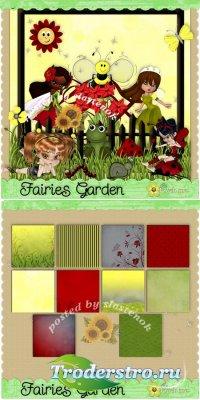 Скрап-набор - Garden fairies / Садовые феечки