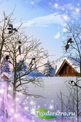 PSD исходник - Зимняя сказка