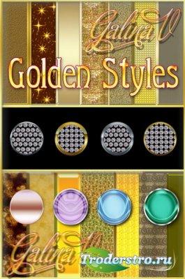 Коллекция Золотых стилей для Photoshop