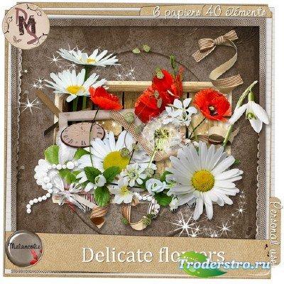 Скрап-набор - Нежные цветы