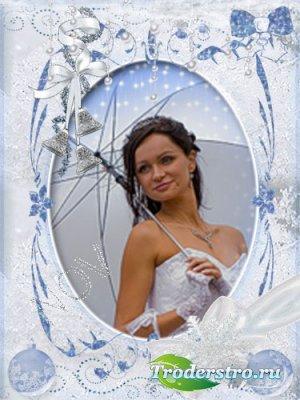 Рамочка для фото -Новогодний снежок