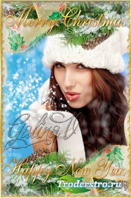Рамка для фото - Весёлого Рождества и Счастливого Нового Года