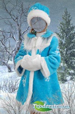 Новогодний шаблон для фотошопа -Зимняя сказка