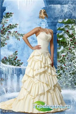 Женский шаблон для фотошопа – Зимняя прогулка
