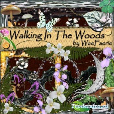 Скрап - набор  - Walking in the wood / Прогулка в лесу