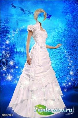 Женский шаблон для фотошопа – Ледяная красавица