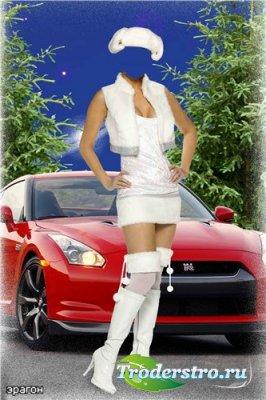 Женский шаблон для фотошопа – Девушка в белом