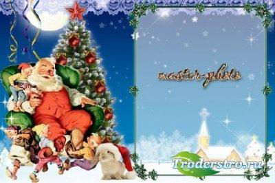 Рамка с Дедом Морозом
