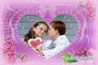 Романтическая рамочка для фотошопа - Нежные чувства