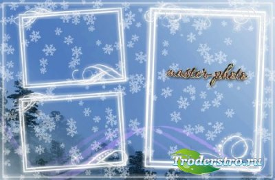 Рамка для фотошопа Снежная