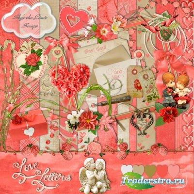 Скрап-набор - Любовные письма