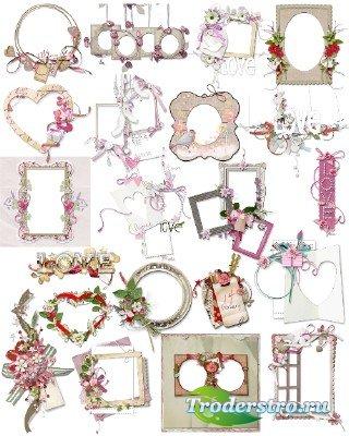 Рамки и элементы к дню Святого Валентина