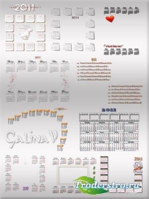 Календарные сетки на 2011 год