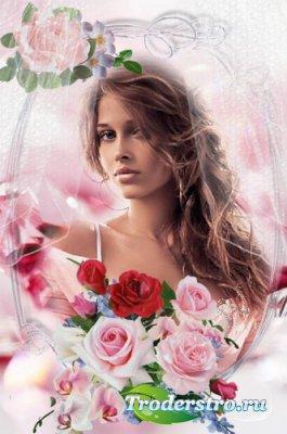 Романтическая рамочка для фото - Нежность розовых роз