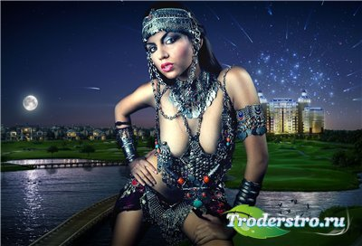 Женский шаблон для фотошопа - Танцовщица 2011