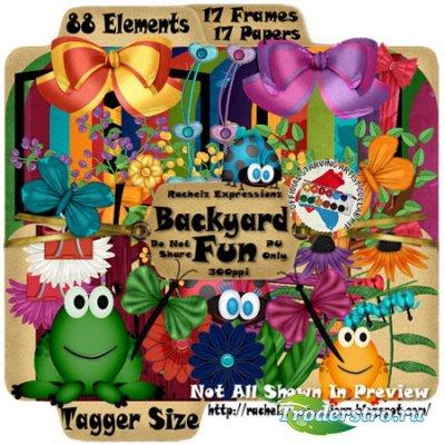 Скрап - набор - Backyard fun (Детский уголок)