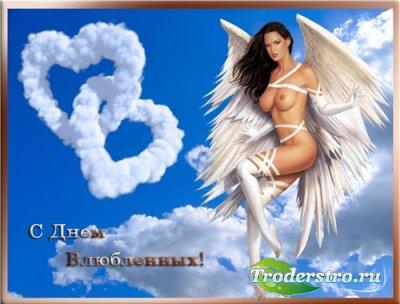 Женский шаблон для фотошопа - Мой ангел