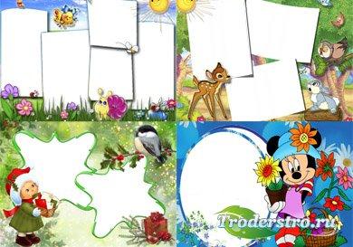 Рамочки детские для фотошопа (20 PNG)