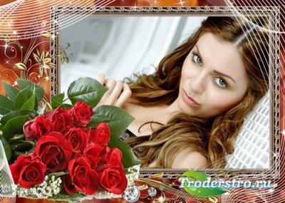 Рамка для фотошопа с розами