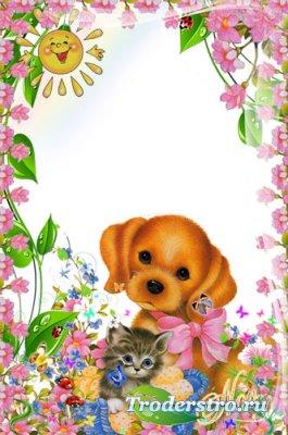 Рамочка для фотошопа - В мире цветов