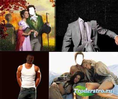 4 новых мужских шаблона для фотошопа