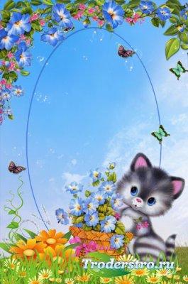 Рамочка для фото - Милый котик