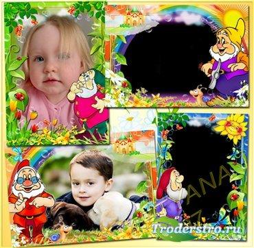 Детские рамочки для фото - Затейливые гномы