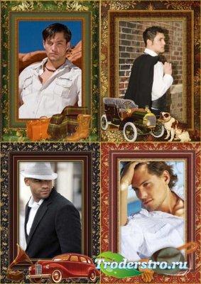 Рамки для фото мужские в стиле винтаж